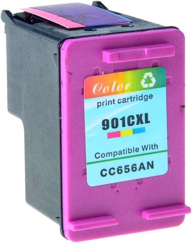 Nineleaf Remanufactured High Yield Ink Cartridge Compatible for HP 901XL 901 XL Officejet 4500 J4524 J4540 J4550 J4580 J4624 J4680 Printer Tri-Color,1 Pack