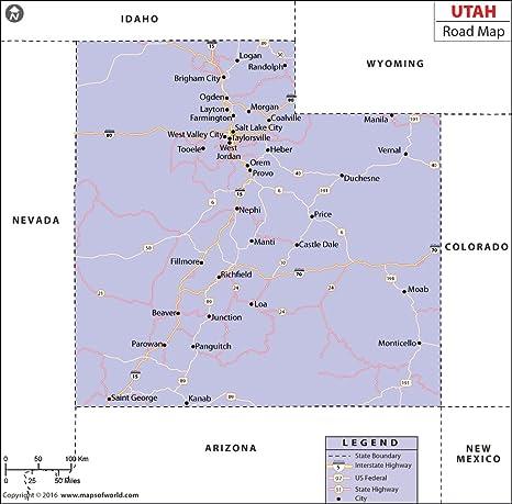 Amazon.com : Utah Highway Map (36\