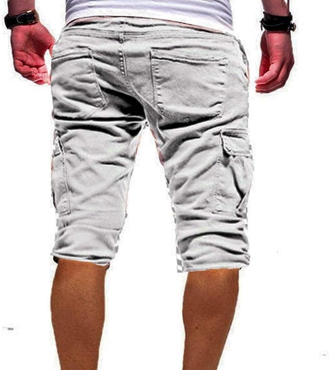 Evaliana Men Military Cargo Shorts Combat Cotton Camouflage Outdoor Summer Beach Trousers
