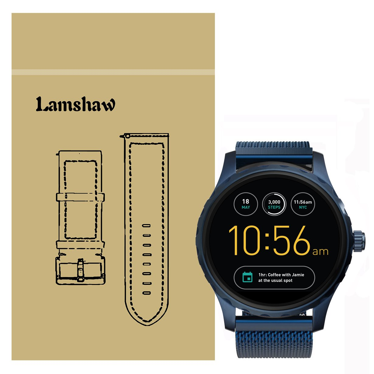 090665ec70ee Ceston - Pulsera clásica para reloj Fossil Q Marshal Smartwatch  Amazon.es   Electrónica
