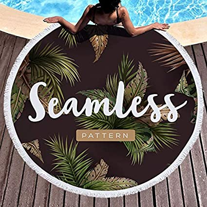 Amazon.com: WLEZY Beach Towel Round Beach Towel 150CM Shower ...