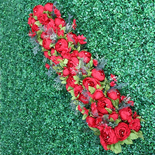 CoronationSun - Decor for Party - 35cm Artificial Flower Centerpieces+1m Peonies Flower Row Arrangement Supply Decor Wedding Arch Table Flower -