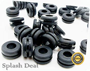 """7//8/"""" OD 3//16"""" ID Rubber Grommets for 5//8/"""" panel hole Fits 1//8"""" Panel"""