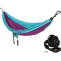 Castaway Hammocks Single Travel, Turquoise/Purple