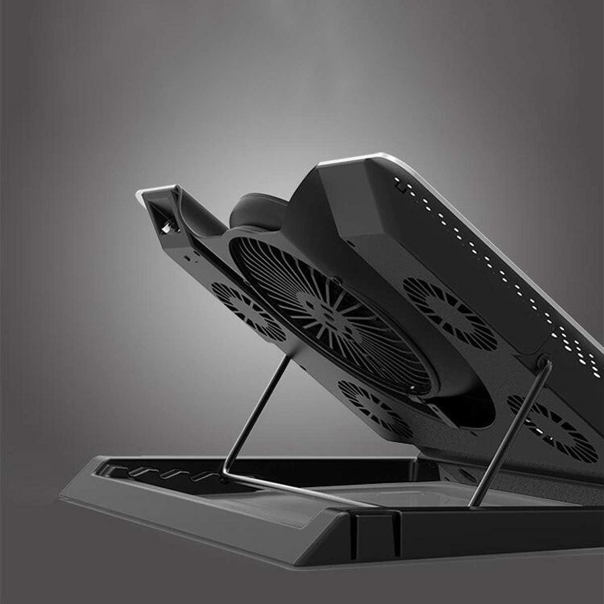 Aluminum Bracket Base Radiator 1 Large Fan 4 Small Fan for Laptop 17 Inches Black,Efficient Heat Dissipation Jingfengtongxun Laptop Radiator Color : Silver