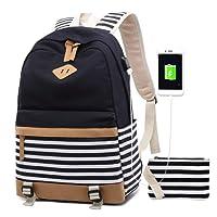 Bolsos Mochila Mujer PortáTil Chicas Escolares NiñAs Escolar Portatil 15.6 Pulgadas Ordenador Mochilas Estudiante Adolescentes Lona Girls Casual Laptop Backpacks USB