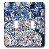 Danita Delimont - Pottery - Portugal, Oporto, Portuguese ceramics for sale - Light Switch Covers - double toggle switch (lsp_227838_2)