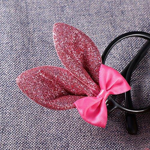 Fancy Black Ears Kids Easter Dress Frames Decoration Bunny Glasses Glitter Bowknots black R7UZq5w