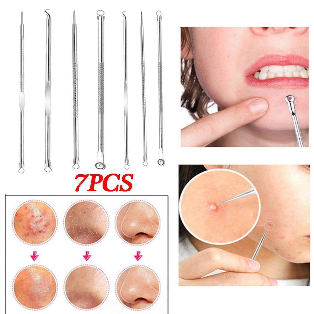 Blackhead Remover Blackheads Removal Tool,Yezike 7 in 1 Pimple Popper  Popping Kit and Blackhead