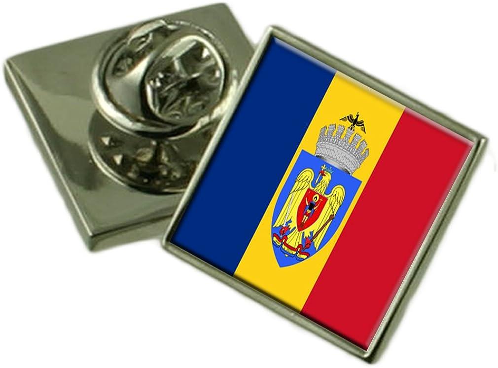 Select Gifts Ciudad de Bucarest Rumania Bandera Insignia de Solapa Cuadro Grabado
