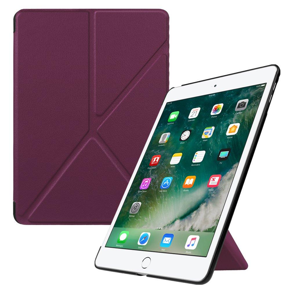 Fintie iPad 9.7インチ2017 / iPad Air 2 / iPad Air折り紙ケース – 超軽量スリムマルチアングルStanding自動ウェイク/スリープ機能付き保護カバーfor Ipad 2017 9.7インチ、iPad air 1 2 9.7 Inch EPAE096US  パープル B07425NHMS