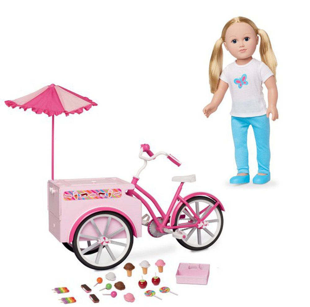 18'' Doll Girl with Treat Cycle