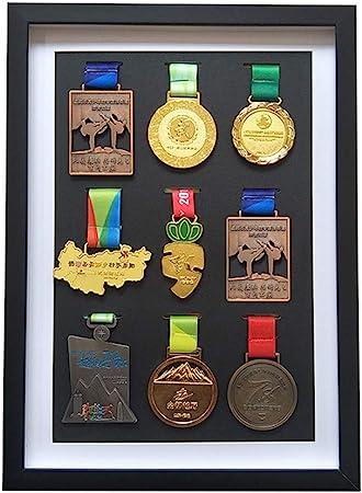 Marco de medalla Madera maciza Caja expositora Insignias Caja exhibición medallas Estante de listado de marco de visualización tridimensional No deformado Para guardar medallas(Tamaños múltiples): Amazon.es: Hogar