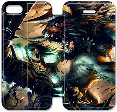Klreng Walatina® Coque iPhone 6 6s Plus de 5,5 pouces Coque cuir Fond d'écran World of Warcraft Trading Card X3K6Gy