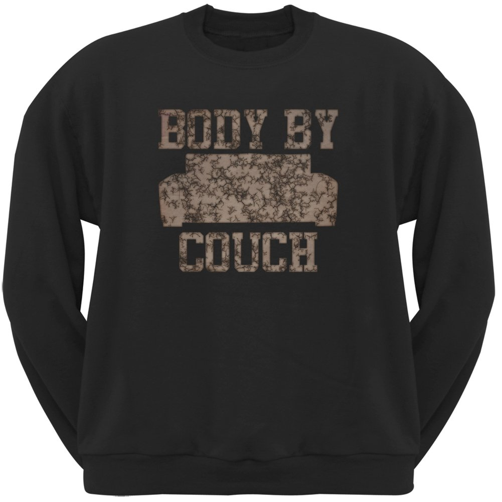 Old Glory Body by Couch Black Adult Crew Neck Sweatshirt