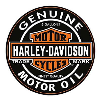Harley-Davidson Motor Oil Bar & Shield Logo Round Puzzle - 26.5 inch 6022D: Harley-Davidson: Toys & Games