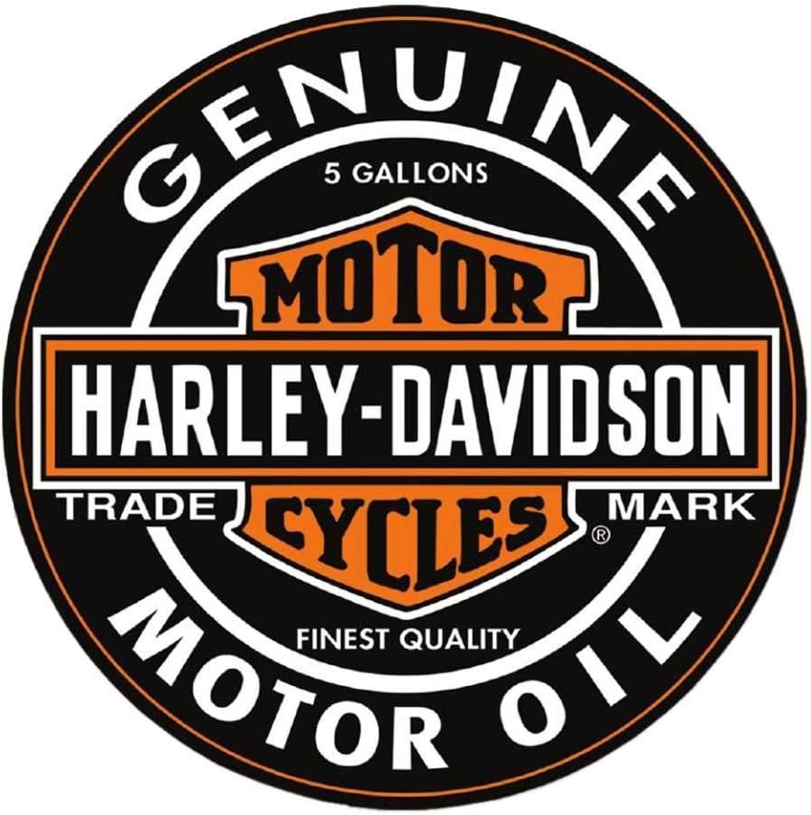 Harley-Davidson Motor Oil Bar & Shield Logo Round Puzzle