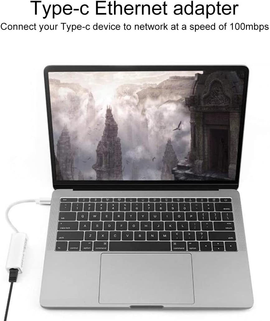 Aosituopu USB-C//Type-C 10//100 Mbps Ethernet Adapter Network Card