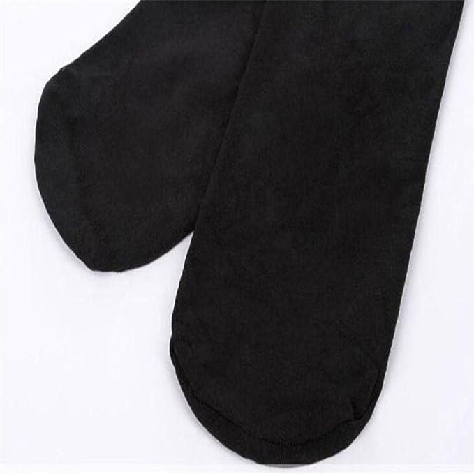 Koly Rodilla Alta Calcetines Pantyhose Medias Encaje Señoras Mujer Muslo Alto Estiramiento Algodón Legging Calcetines Chicas Moda Opaco Over Knee muslo High ...
