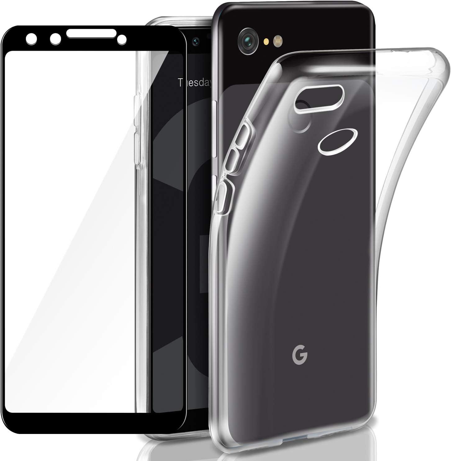 AROYI Funda Google Pixel 3 + Cristal Vidrio Templado Google Pixel ...
