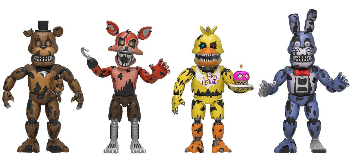 Funko Five Nights at Freddy's 2 Nightmare Edition Vinyl Figure Four Pack