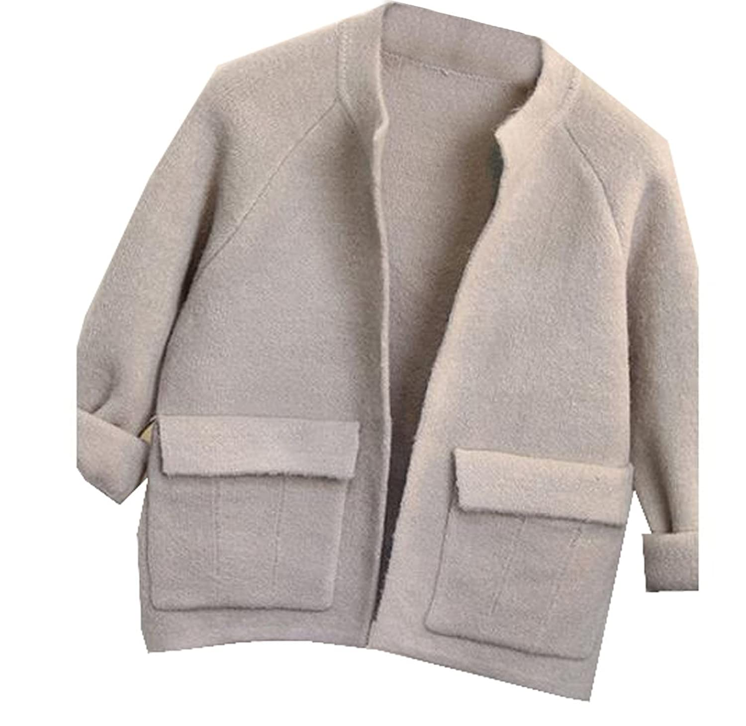 NQ Women's Short Long Sleeve Chic Open Front Cardigan Outerwear
