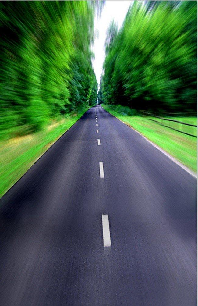 A MonamourリモートLong Street Road High WayルートScenic 5 x 7ft写真背景ビニールBokeh 3dビジョングリーン木   B01NCF2WQ7