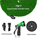 hose as seen on tv - SERENDIPPER 2018 75FT Expandable Garden Hose Kit, Expanding Garden Hose with Triple Layer Latex Core & Latest Improved Extra Strength Fabric Protection, 8 Function High Pressure Spray Nozzle