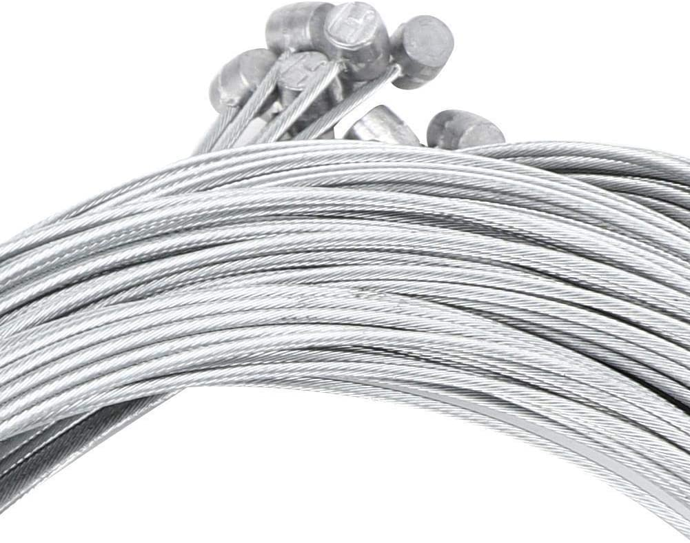REOUG 20PCS Metal 2.5M Length 1.6mm Thick Electric Bicycle Rear Cable Core Brake Line Cycling Accessory