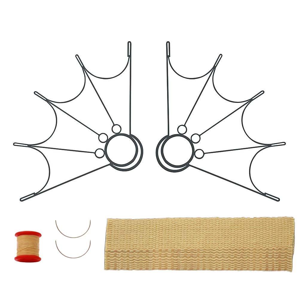 ペアのSpider Fireファン2インチWick Kit – Make your own B01M8I9KLT ブラック