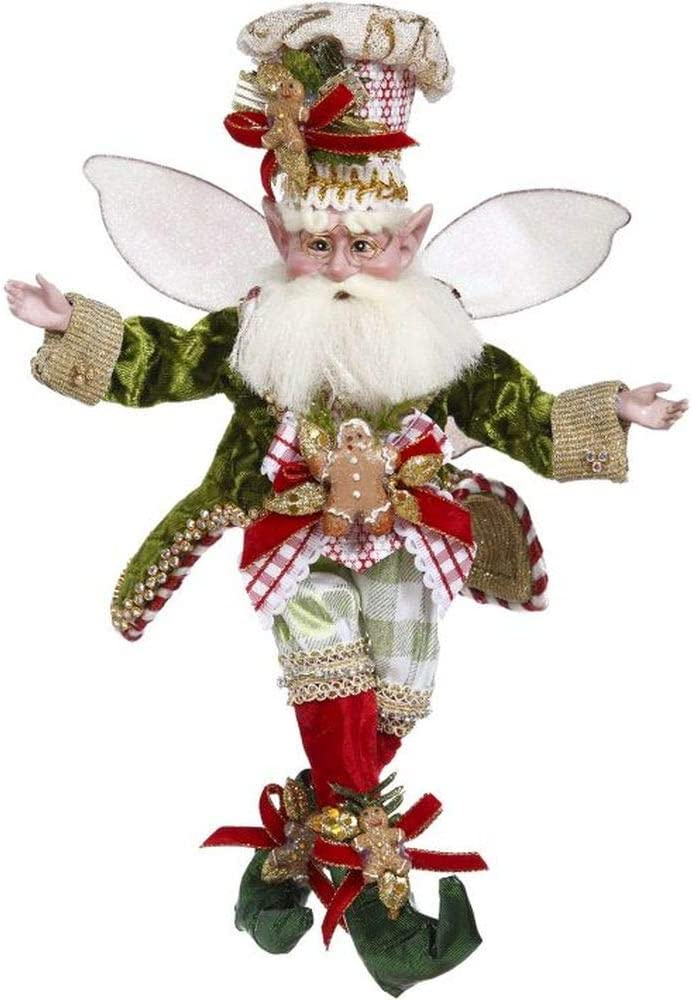 Mark Roberts 2020 Limited Edition Collection Gingerbread & Spice Fairy Figurine, Small 11'' - Deluxe Christmas Decor and Collectible