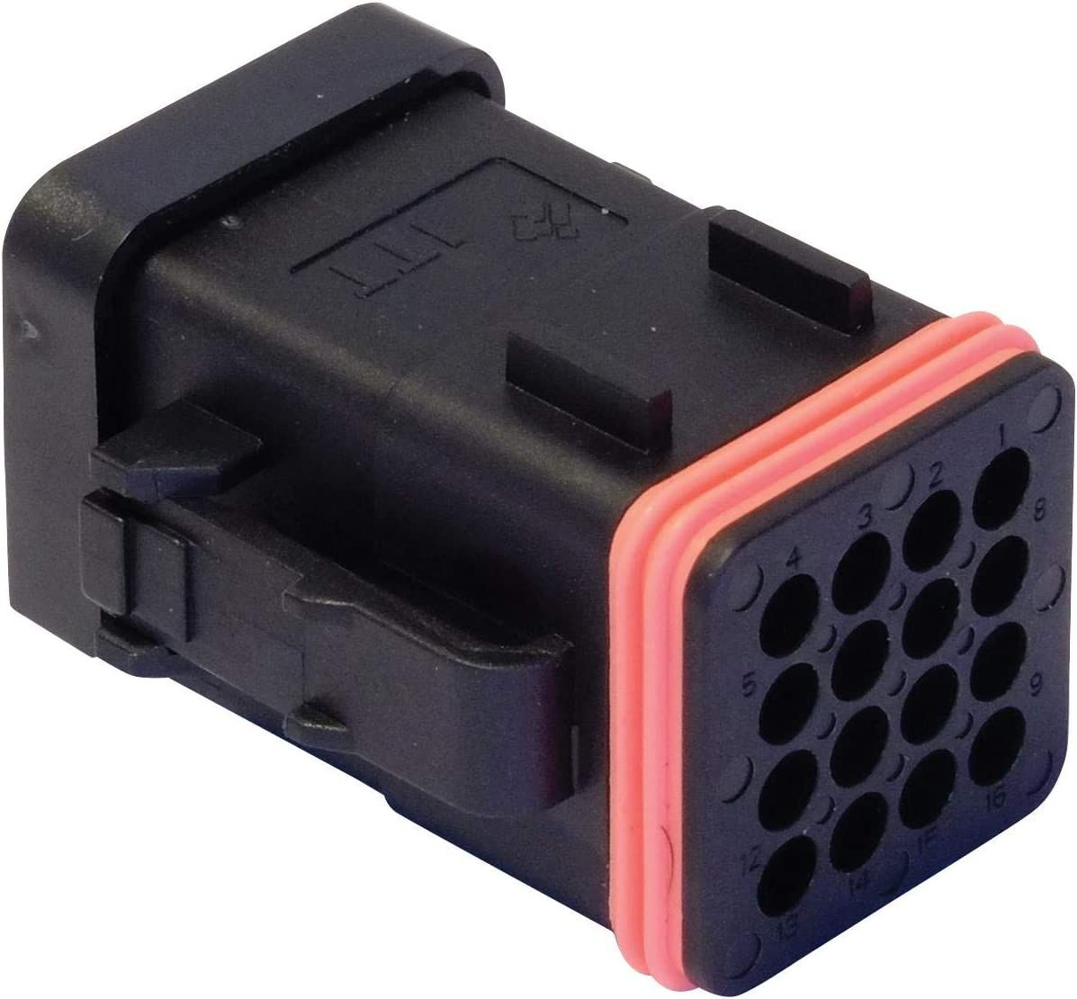 132015-0073 CTC Series 132015-0073 Pack of 10 Automotive Connector Housing Black With Cap Plug 16 Positions