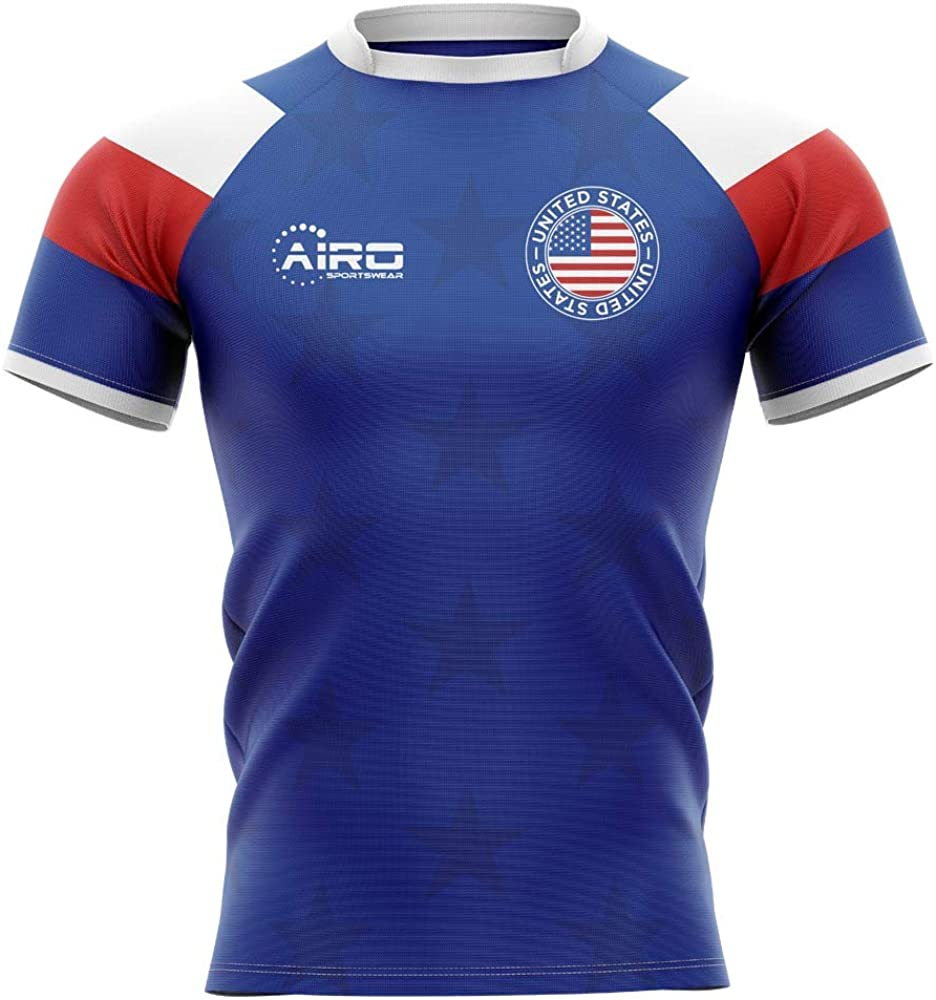 Airosportswear 2020-2021 United States USA Home Concept Rugby Football Soccer T-Shirt Jersey