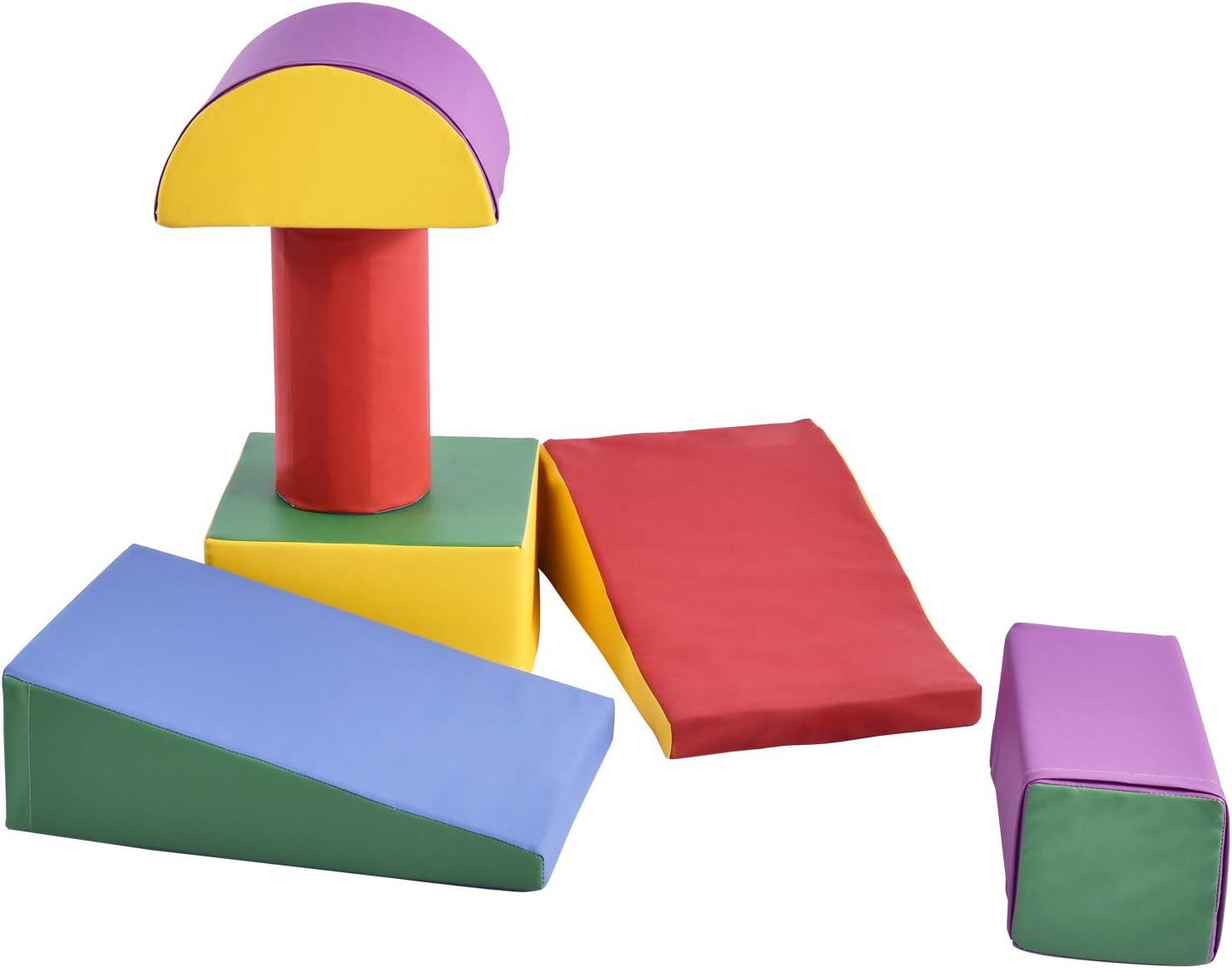 Motor Skills Color Coordination Ai CAR FUN 6 Pieces Foam Play Set Climb and Crawl Activity Play Set Lightweight Safe Interactive Set for Child Development