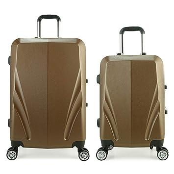 Trolley ligero maleta Ligero, 2 piezas, conjunto de equipaje anidado con cerradura, 20