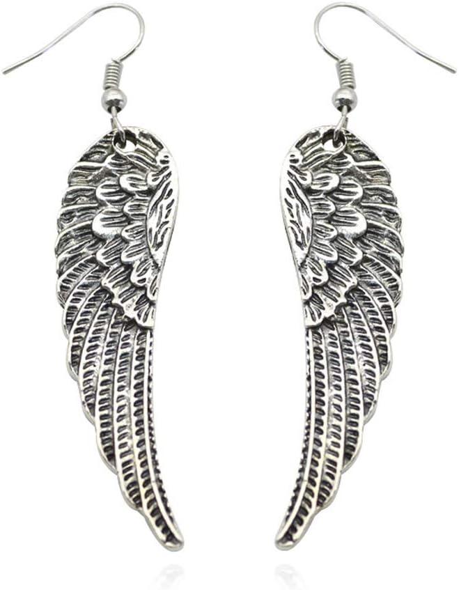 KINTRADE Antiguas alas de /ángel de Plata Colgante Pendientes Pendientes Pendientes Pendiente joyer/ía Mujer