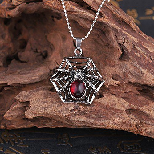Europe and influx men spider steel necklace pendant jewelry lovers personality boys fashion accessories ()
