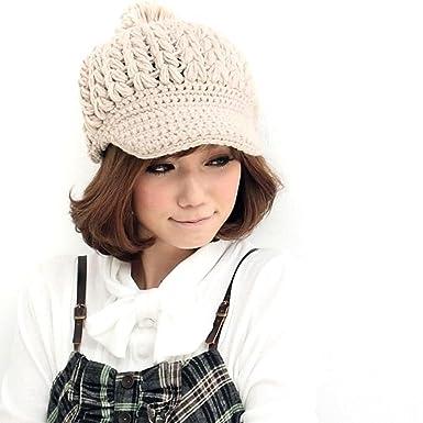 Locomo Women Girl Slouchy Cabled Pattern Knit Beanie Crochet Rib Hat
