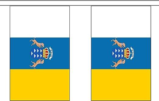 Guirnalda de banderines de poliéster con 30 banderines de España ...