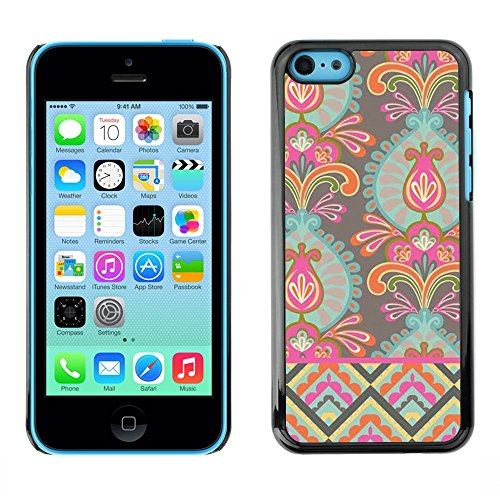 Soft Silicone Rubber Case Hard Cover Protective Accessory Compatible with Apple iPhone? 5C - wallpaper flowers art bright colors