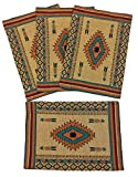 Diamond Arrow Southwestern Desert Design Placemats Set of 4, 13x19 inches