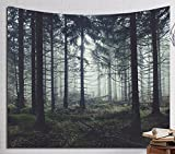 Multi-size Forest Wall Hanging Tapestry Mural Decoration LivebyCare Tablecloth Lightweight Fabric Decorative Wall Tapestries Decor Art Beach Towel Table Cloth Cover for Family Room Kitchen
