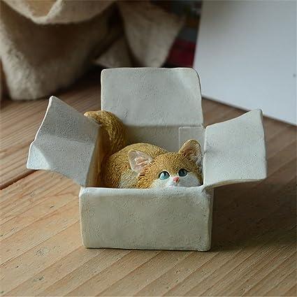 mythgiftuk jardín de hadas en miniatura Mini resina gatos ...