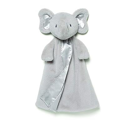 """Baby GUND Bubbles Elephant Huggybuddy Stuffed Animal Plush Blanket, Gray, 17"""": Toys & Games"""