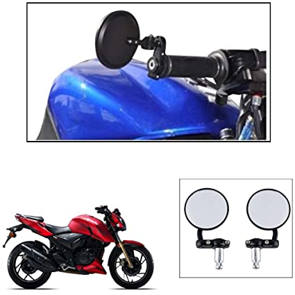 Autowizard Motorcycle Bar End Mirror Rear View Mirror Circle