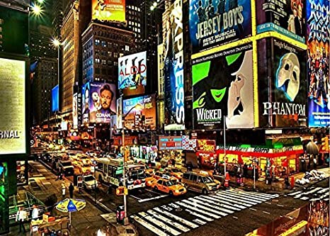 7x5ft new york city times square background high grade portrait cloth computer printed scenic backdrops