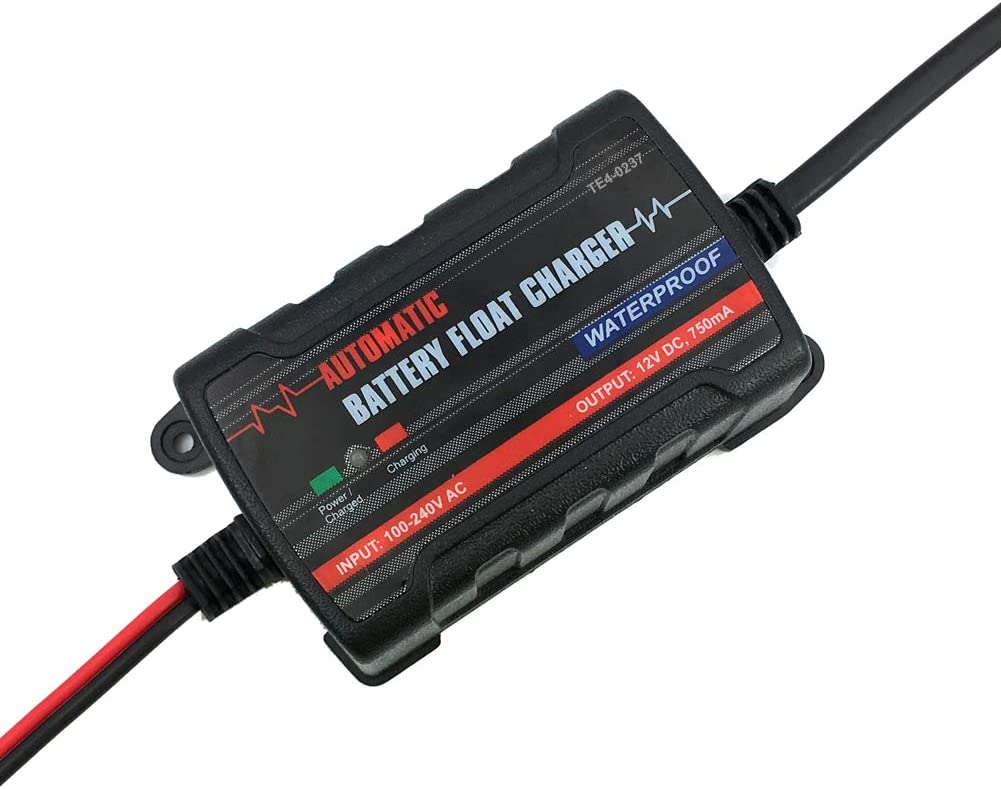 TIROL 6V 12V Automatic Battery Charger Car Maintainer Lead Maintainer for motorcycle Truck SUV US Plug