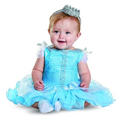Disguise Baby Girls' Cinderella Prestige Infant Costume, Blue, 12-18 Months: Clothing