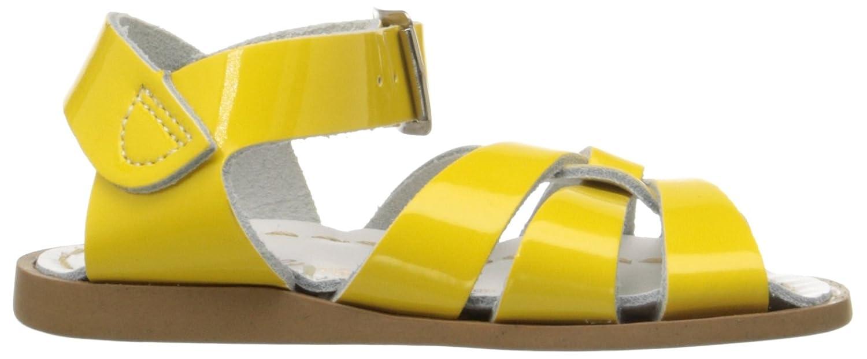 Salt Water Women's The M Original Flat Sandals 12 M The US Little Kid|Shiny Yellow B0054071QC 9780d8