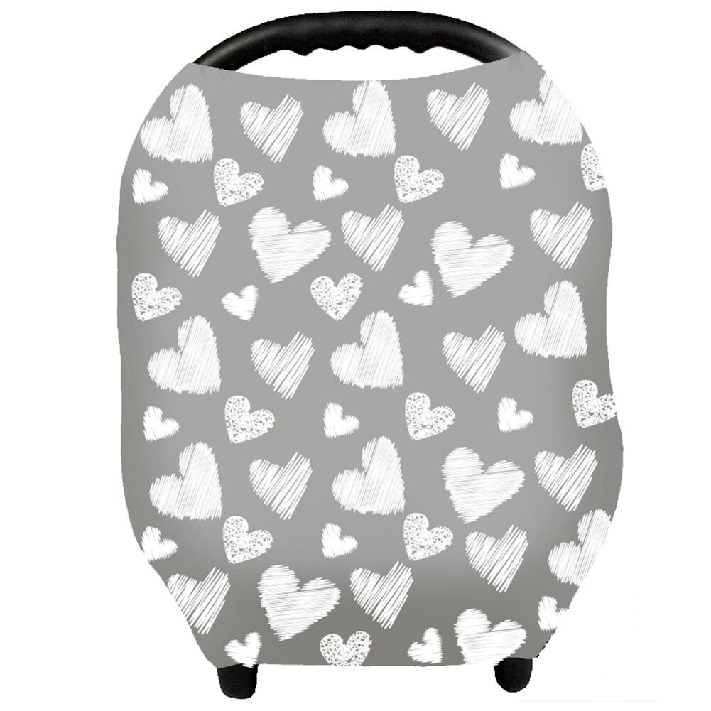 Nursing Cover - Breastfeeding Cover Carseat Canopy for Baby Infant, Car Seat Covers for Babies by YOOFOSS (Gray)